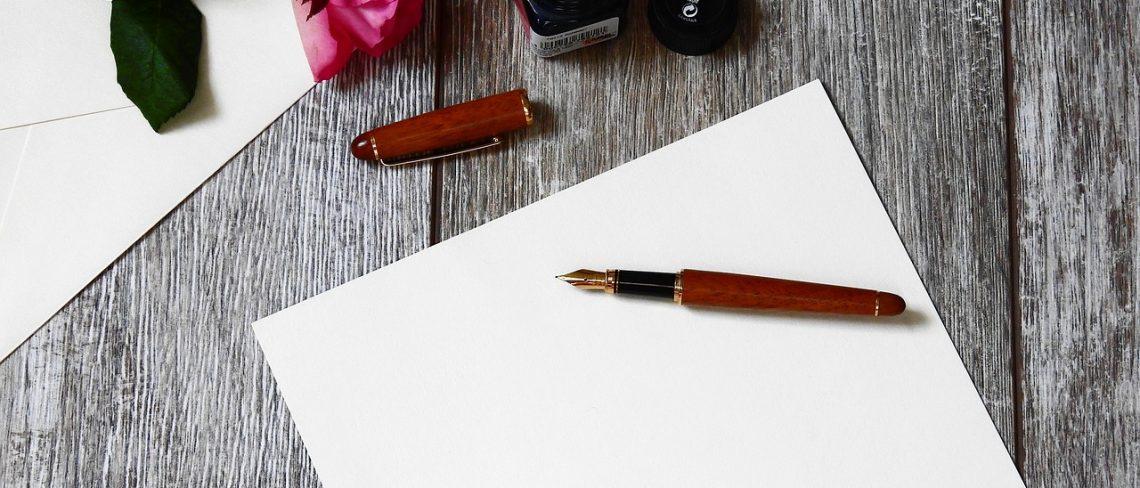 Briefes chreiben – Zeit für sich selbst nehmen