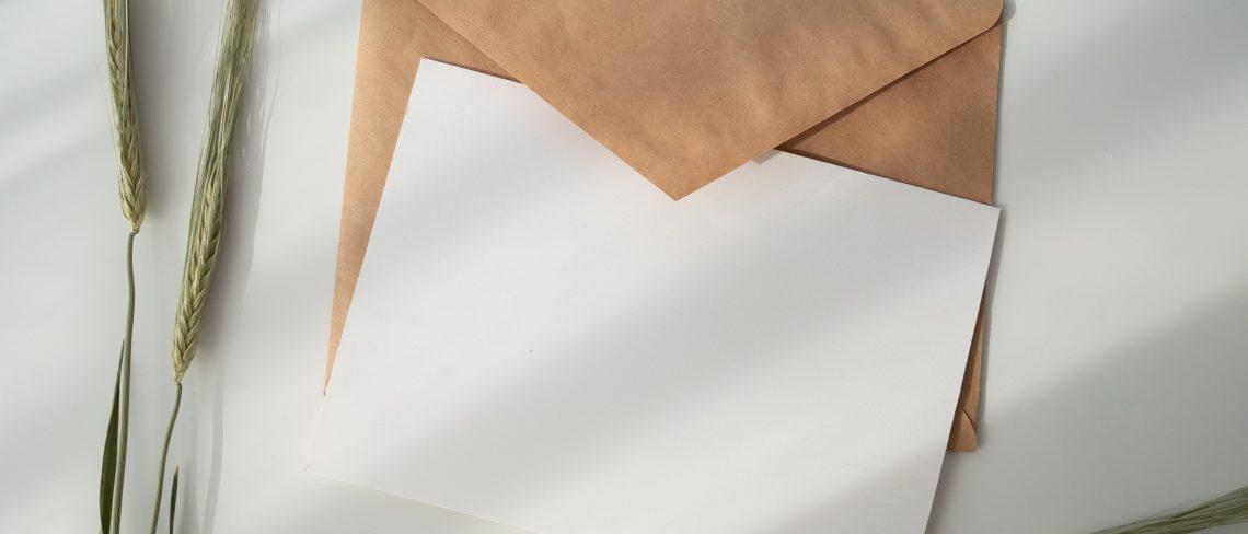 Das perfekte Briefpapier